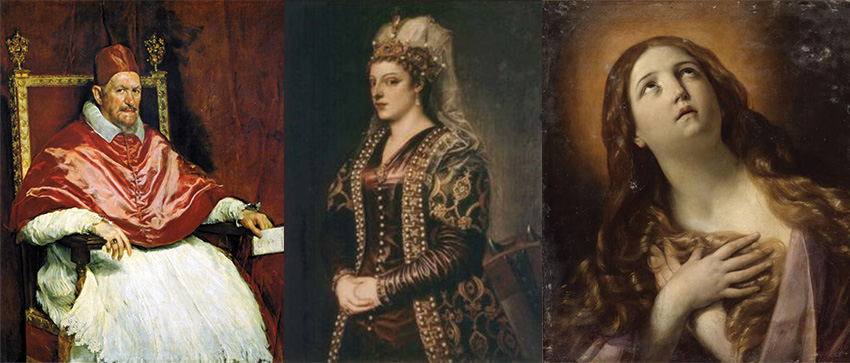 This group of three paintings shows Samuel Grimshawe's tastes. Grim by name!...