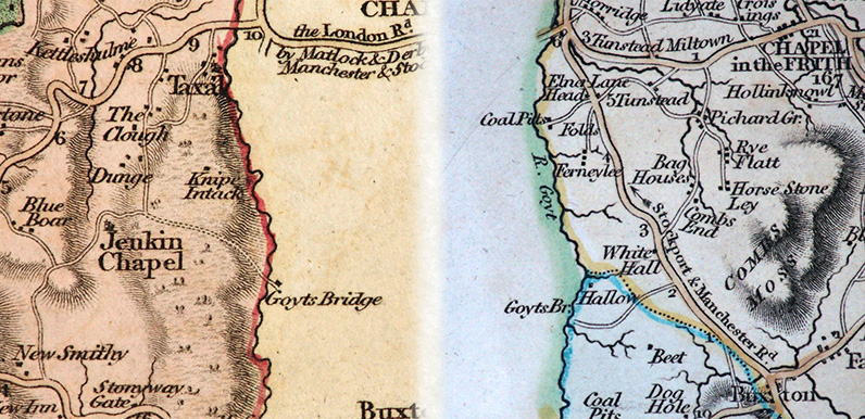 they show that the name has changed over the years sometimes because of mistakes made by the cartographers