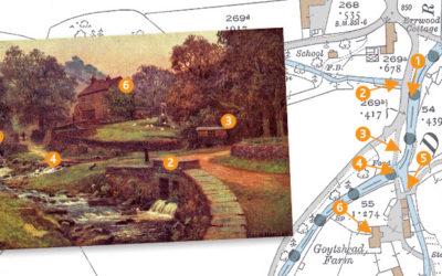 Goyt's Bridge painting