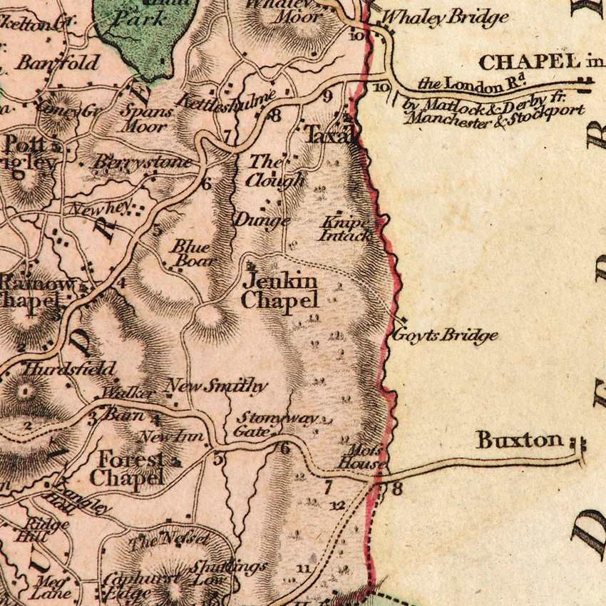 John Cary (c1801) | The Goyt Valley Cary Map on