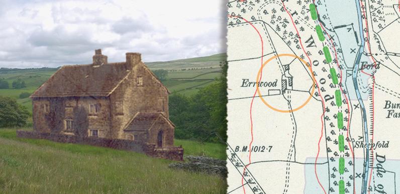 Errwood Farm; then & now