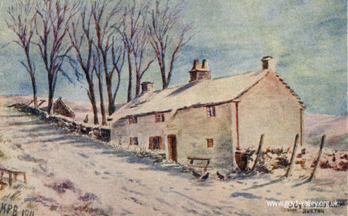 Goyt's Moss Farm in winter. 1911