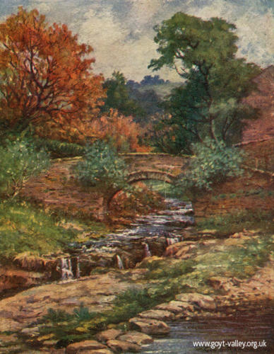 The Packhorse Bridge. c.1900