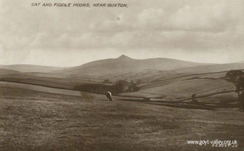 View from the Cat & Fiddle. c.1910