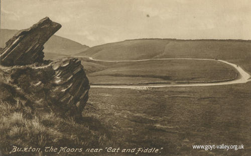 Road from the Cat & Fiddle. c.1910