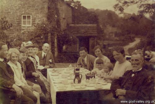Tea at Goytshead Farm. c.1920.