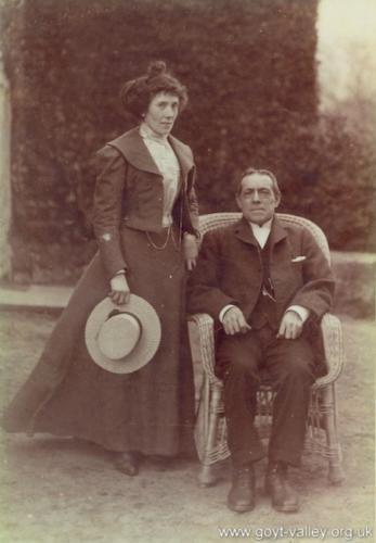 Hall butler & housekeeper. c.1910.