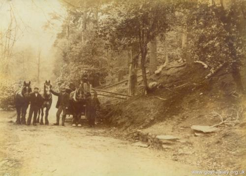 Errwood Estate workers. c.1900.